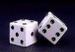 Craps White Dice